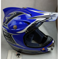 Casco da motocross blu con...