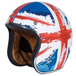 Casco moto jet con bandiera...