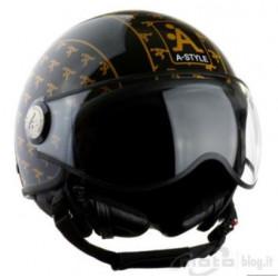 Casco moto jet nero con...