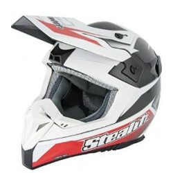 Casco motocross bianco...