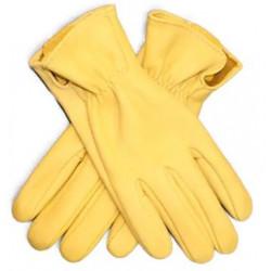 Guanti in pelle gialli per...