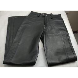 Pantaloni in pelle neri da...